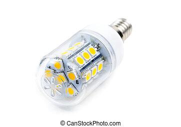 lampe, leuchtdiode, niedrig, macht