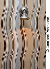 lampe, moderne, fond