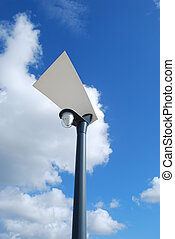lampe, moderne, rue
