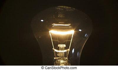 lampe, noir, filament, fond
