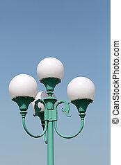 lampe, rue, poste
