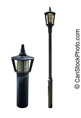 lampe, rue, poste, route