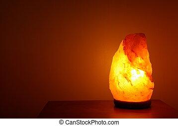 lampe, sel, délassant