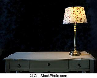 lampe table, blanc, lumière
