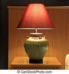 lampe table, mode, vieux