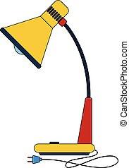 lampe table, retro, illustration