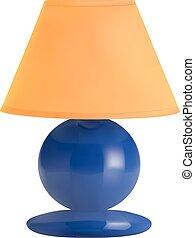 lampe, vecteur, fond blanc