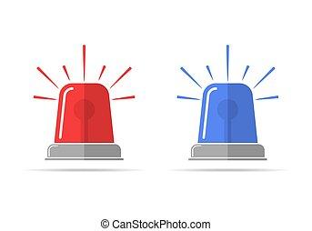 lampeggiatore, vettore, icons., illustrazione