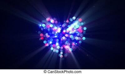 lampeggio, discoteca, forma cuore, loopable, animazione