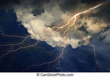 lampo, nubi, sky.