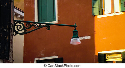 Lamppost and architecture in Venice