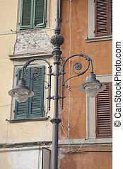 Lamppost in Pisa, Italy