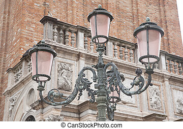 Lamppost in San Marcos - St Marks Square; Venice