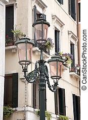 Lamppost in Square of Venice