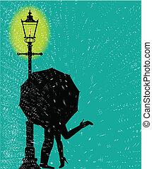 Lamppost In the Rain