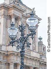 Lamppost in the Streets of Warsaw
