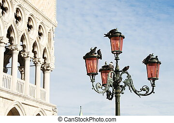 lamppost in Venice, palazzo ducale