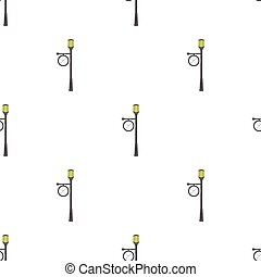 Lamppost with a clock.Lamppost single icon in cartoon style vector symbol stock illustration web.