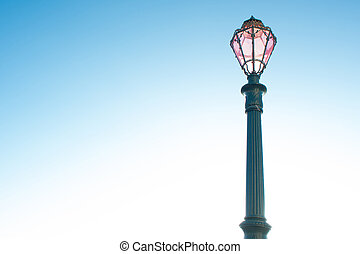 Lamppost with pink glass in Venice