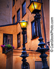 Lampposts in Old Town.
