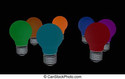 lamps. 3D illustration