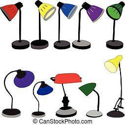 lamps collection - vector