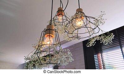 lamps., décoré, beau
