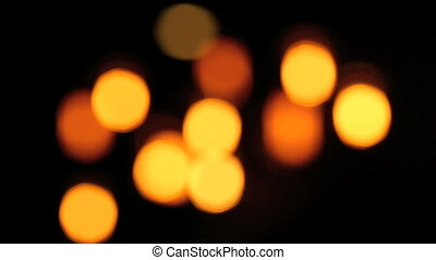 Lamps in bar from defocus to focus - Lamps in a bar from...