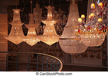 Lamps in store