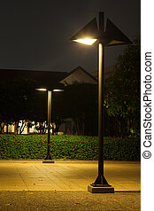 Lamps in the park