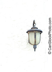 Lamps old white wall