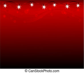 Lamps on red background
