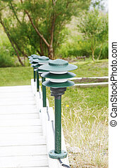 Lamps - Outdoor lamps on a staircase