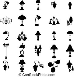Lamps silhouettes set