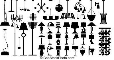 Lamps (vector) - Lamps made in vector