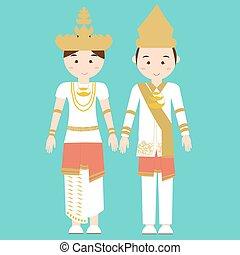 lampung, 印度尼西亞, 婦女,  melayu,  Malay, 傳統, 蘇門答臘, 矢量, 亞洲人, 衣服, 衣服, 卡通, 南方, 服裝