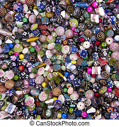 Lampwork Bead Multicolored Background Texture - Image of a ...