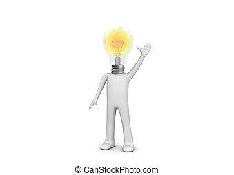 lampy, -, 考え, 持ちなさい, 人