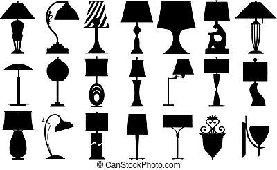 lampy, (vector)