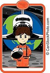 lançadeira, astronauta, espaço