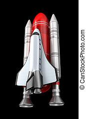 lançadeira, model., espaço