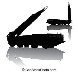 lançador, míssil
