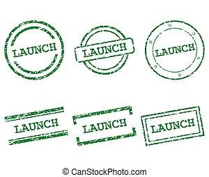 lançamento, selos