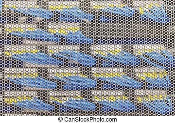 Lan cable in Cambridge Server Rack, foucs on the door