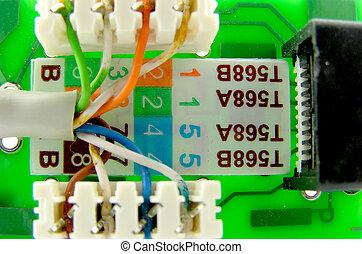 LAN connector. A close up.