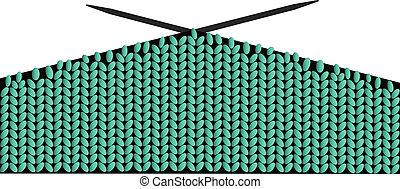 lana, vector, tejido de punto