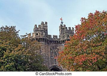 Gates of the Lancaster city castle (UK)