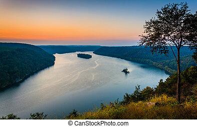 lancaster, pináculo, susquehanna, condado, meridional,...