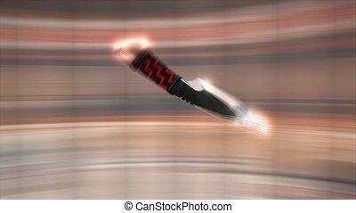 lancement, couteau