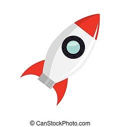 lanceur, démarrage, fusée